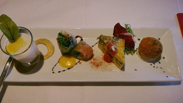 蕪のムース、生春巻きなど、お洒落な前菜に嬉しくなります