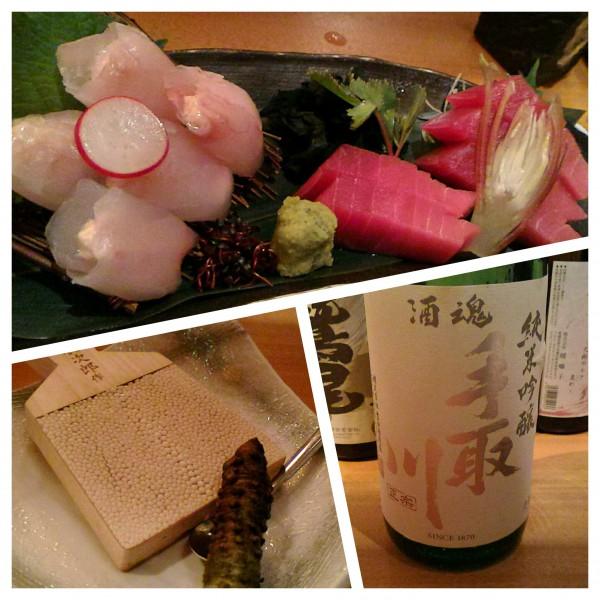 お刺身と日本酒、何も言うまい。
