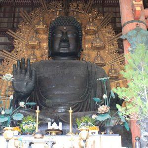 奈良の大定番の観光地、東大寺の大仏様と奈良公園の鹿と春日大社
