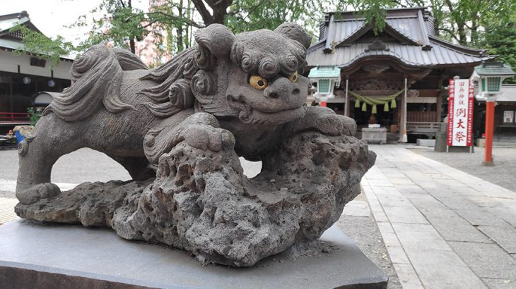 参拝者が引きも切らない、五色の龍がいる神社【田無神社】